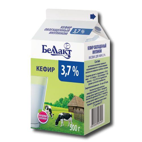 Кефир, обогащенный инулином, 3,7 % (пюр-пак)